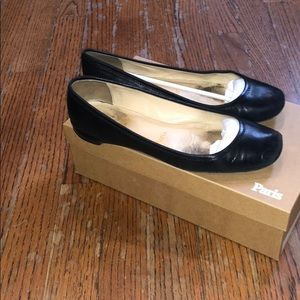 Black size 37 Christian Louboutin ballerina flats